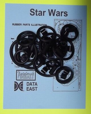 1992 Data East Star Wars pinball rubber ring kit
