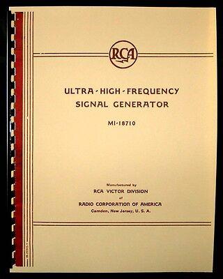 Rca Ultra-high-frequency Signal Generator Mi-18710 Manual