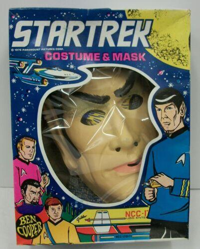 Vintage 1975 Star Trek Mr. Spock Ben Cooper Halloween Costume w/ Box EUC