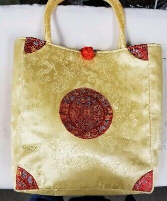 Brocade Oriental ladies purse bag handbag gold and red Brocade Red Bag