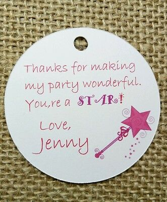 heme Birthday Tags Labels Magic Wand Party Favour Decoration (Magic Theme Decorations)