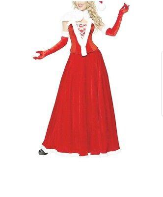 Frauen Santa Klaus Weihnachtsfrau Kostüm Gr.S Neuwertig