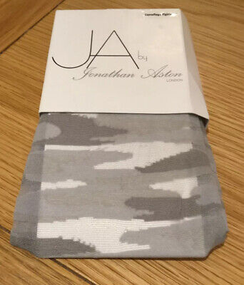 Jonathan Aston Silver Grey Camouflage Pattern Tights One Size