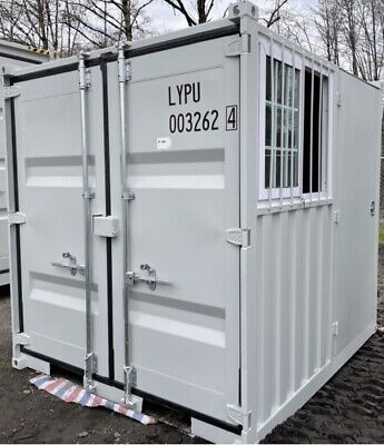 Brand New 8 X 6.5 X 88 H Office Container W2 Doors A Man-door And A Window