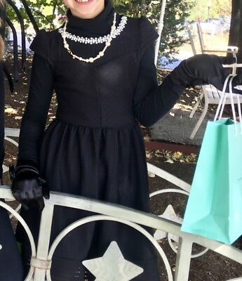 Monteau Girl Black Pearl Breakfast at Tiffanys Dress Costume Party Sz 7 Holiday