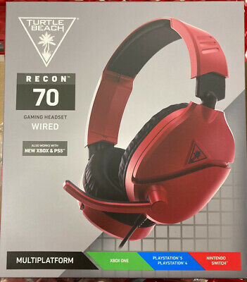 Turtle Beach Ear Force Recon 70 Midnight Red Gaming Headset PS4, Xbox, Nintendo