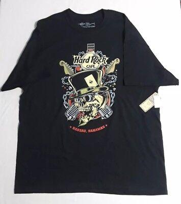 Hard Rock Cafe Top Hat T-Shirt Nassau Bahamas Printed 100% (Print T-shirt Top Hat)