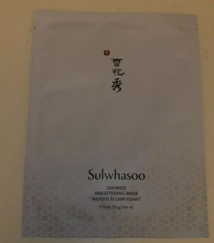 Sulwhasoo Snowise Brightening Mask 1 Full Size Sheet Face Ma