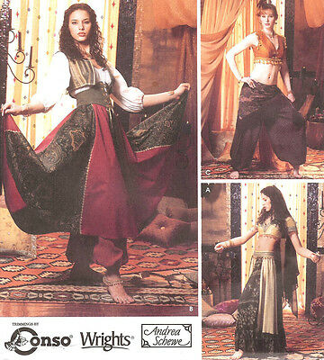 Belly Dance costume PATTERN Simplicity 5359 Sz 6-20 Harem Girl Esmeralda Gypsy