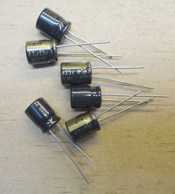 6 Count Nichicon Muse Kz 47uf25v High-end Audio Electrolytic Capacitor