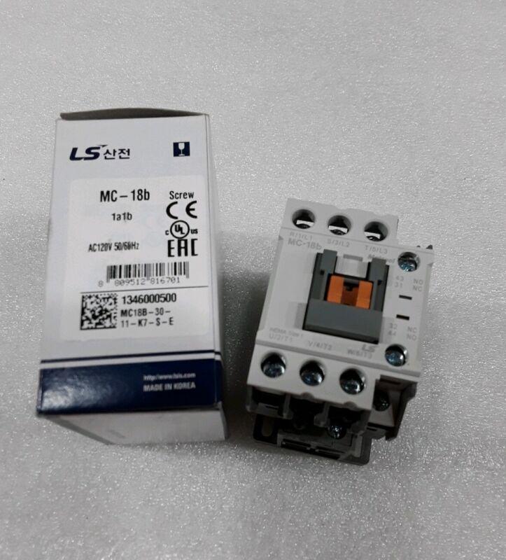 MC-018b/3-120 LS METASOL CONTACTOR SCREW 3POLE 40AMP AC1 18A AC3 COIL 120V NEW