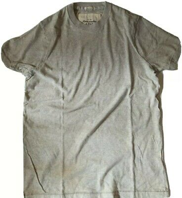 Abercrombie & Fitch Men's VTG Discontinued Muscle T-Shirt New Light Grey Medium
