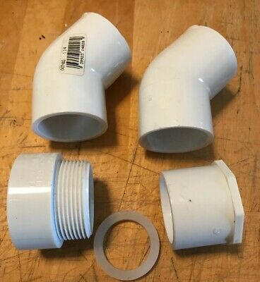 Lot Of 4 Nibco Pvc Schedule 40 Fittings 1.25 D24661.5x1.25 4804 Male Thread