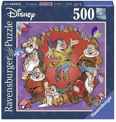 NEW Ravensburger 500 Pc Seven Dwarves Snow White Disney Puzzle