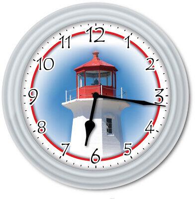 Lighthouse Wall Clock - Kitchen Home Bedroom Ocean Beach Decor - GREAT GIFT
