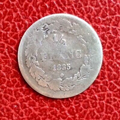 Belgique - Léopold Ier -  Rare monnaie de 1/2  Franc 1835