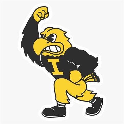 Iowa Hawkeyes Mascot NCAA DieCut Vinyl Decal Sticker Buy 1 Get 2 - Buy Mascot