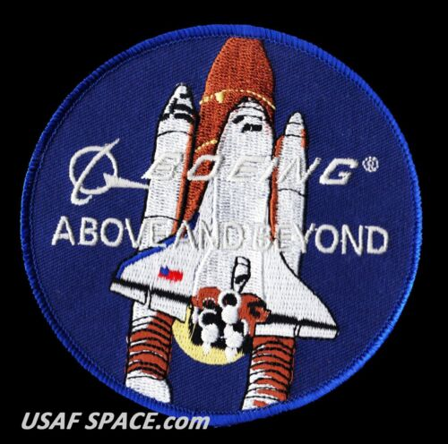 """BOEING - ABOVE AND BEYOND - NASA CONTRACTOR SHUTTLE - 4"""" SPACE PATCH - MINT*****"""