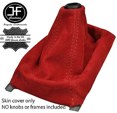 RED REAL SUEDE MANUAL SHIFT BOOT FITS HONDA CIVIC 1989-2000
