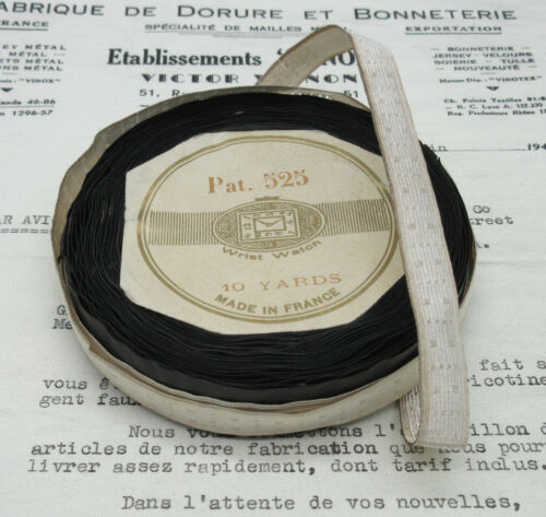 1 yd  Antique/Vintage French Silver Wire W/Dots Metallic Trim