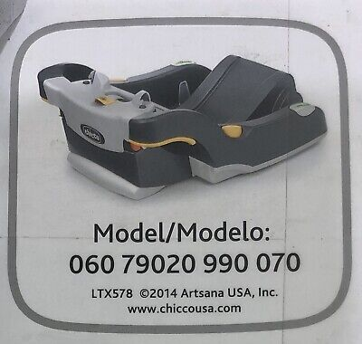 Chicco KeyFit and KeyFit 30 Infant Car Seat Base in Black/Grey