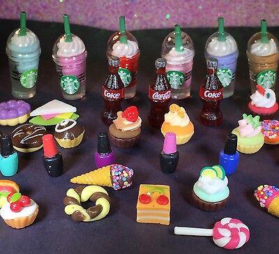 ❤️Littlest Pet Shop LPS ACCESSORY LOT 3 Custom Accessories! Starbucks Bows Food+