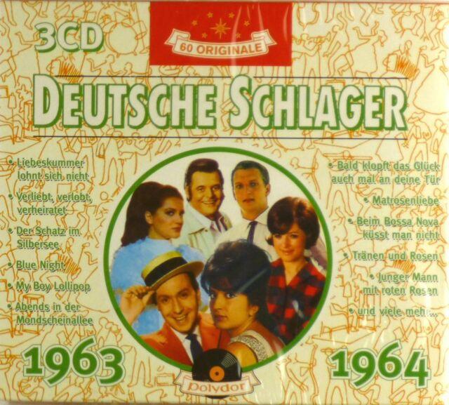 3x CD - Various - Deutsche Schlager 1963 - 1964 - Neu - #A3296