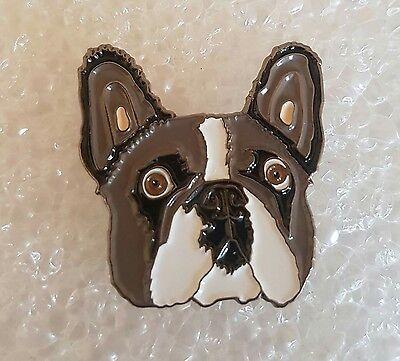 French Bulldog Head pin / lapel badge Canine Pets Bulldog Head Lapel Pin
