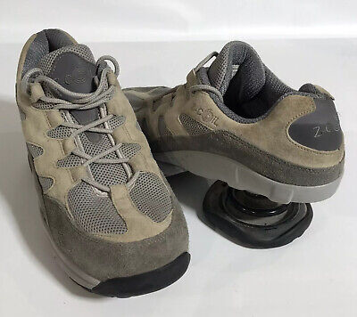 Z-Coil Freedom Men's Sz 11 Grey/Tan Pain Relief Spring Heel Classic Shoes VGC