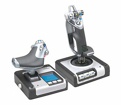 Flight Simulator Controls Logitech Joystick Throttle PC Controller G Saitek...