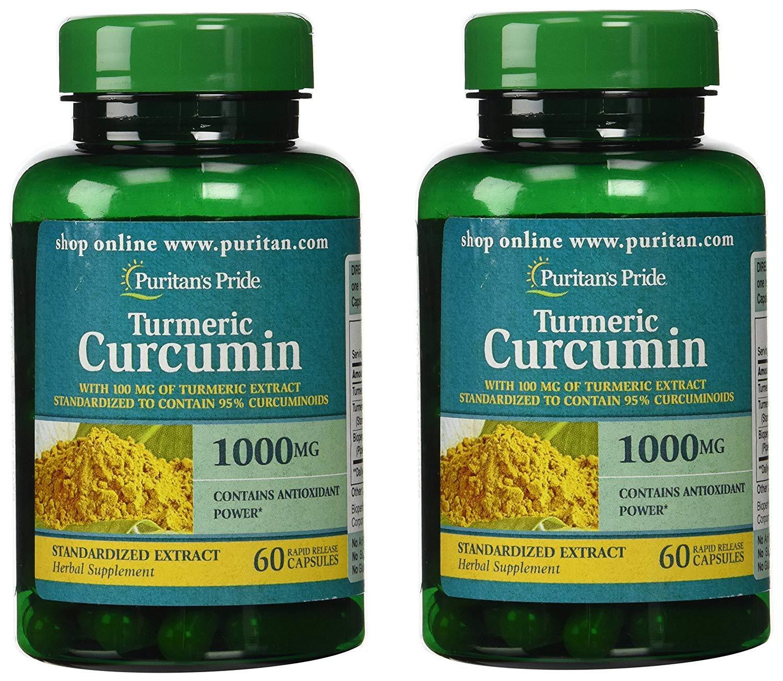 Puritan's Pride 2 Pack of Turmeric Curcumin 1000 mg Puritan'