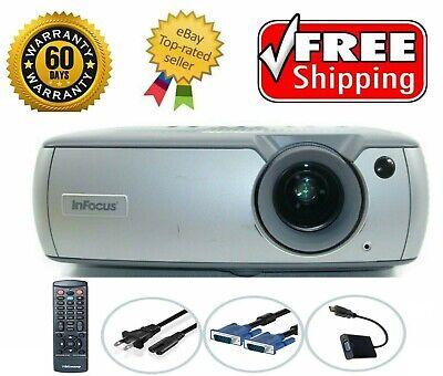InFocus LP540 3LCD Projector Refurbished HD 1080i/p HDMI-adapter w/Remote bundle