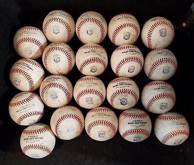 (20) Official MLB Major League used baseballs Oakland A's 50th Anniversary balls