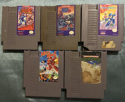 Nintendo NES Mega Man 2, 3, 4, 6 & Teenage Mutant Ninja Turtles Game Shells Only