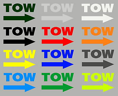 Tow & Arrow Stickers 2 Pack MSA Motorsport Rally Race Tow Eye Loop