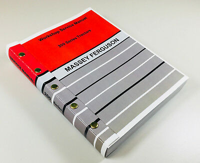 Massey Ferguson Mf 230 240 250 265 275 Tractor Service Repair Manual Shop Book