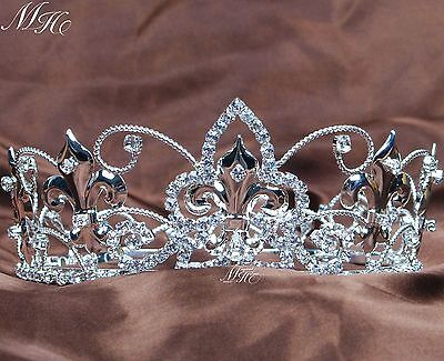 Small Queen Tiara Crown Rhinestone Headband for Children Pageant Party Costumes](Crowns For Queens)