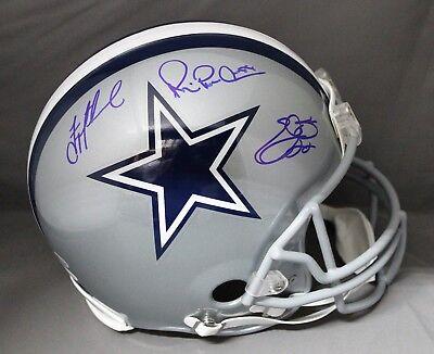 bee5619091d Emmitt Smith,Troy A, M Irvin Dallas Cowboys Triplets Proline FS Helmet  Beckett