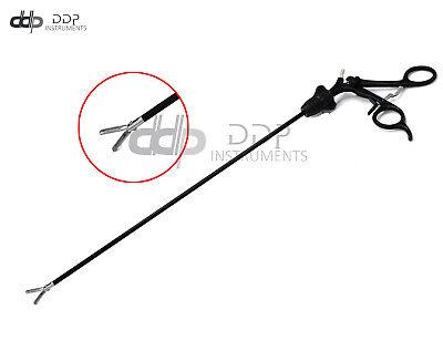New Laparoscopic Grasper Forceps 5x17mm Wserrated Black S.steel Handle Lp-058