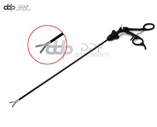 New Laparoscopic Grasper Forceps 5x17mm W/Serrated Black S.Steel Handle LP-058