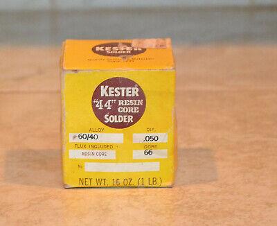 Kester 44 Resin Core Solder 6040 Alloy .050  Box 15.5 Oz.