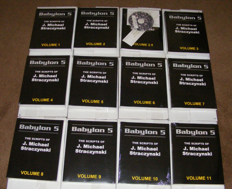 **BABYLON 5** COMPLETE SERIES SCRIPT BOOKS, DVDs, RARE OUT OF PRINT!!