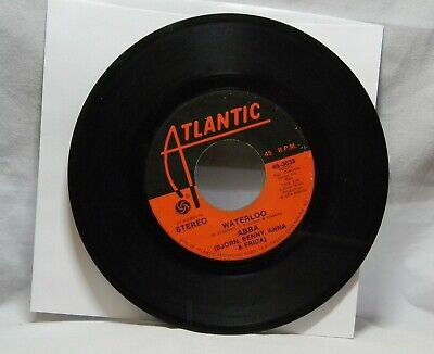 ABBA WATERLOO / WATCH OUT 45 RPM RECORD M1