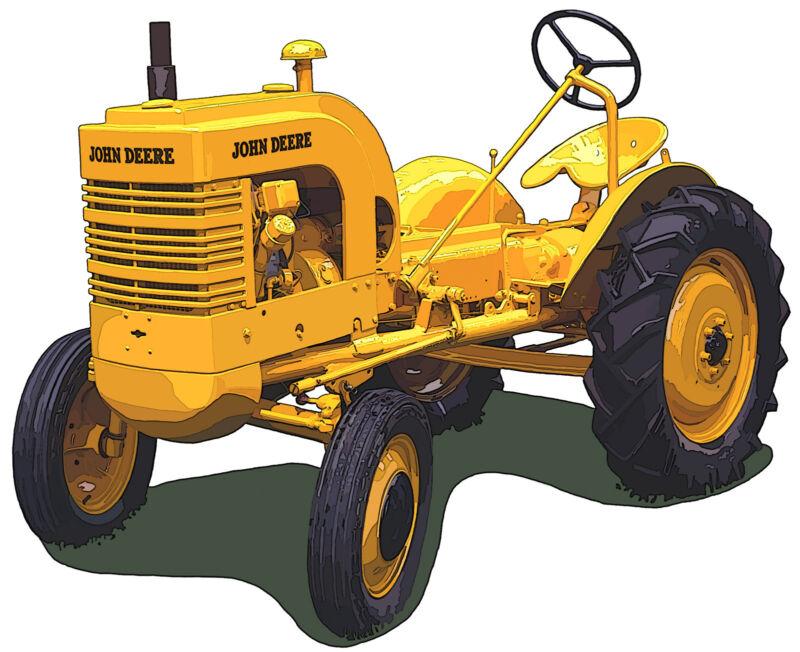 John Deere Model LI canvas art print by Richard Browne farm tractor