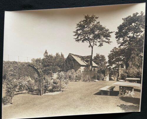 1920 Photograph Sepia THE TOWERS Singer Castle Dark Island Trellis Garden Ground