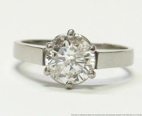 1.47ct Diamond Solitaire Platinum Ring Brand New Engagement Sz 6.75 Retail $3900
