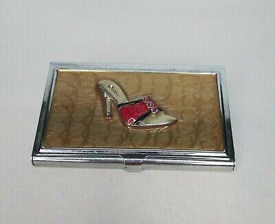 Metal Business Card Holder Stiletto High Heel Shoe Womens Ladies