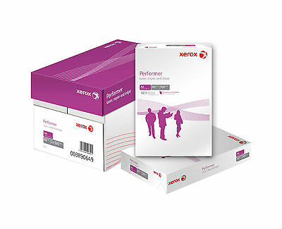 A4 PRINTER PAPER WHITE 80GSM XEROX PERFORMER BOX OF 5 REAMS