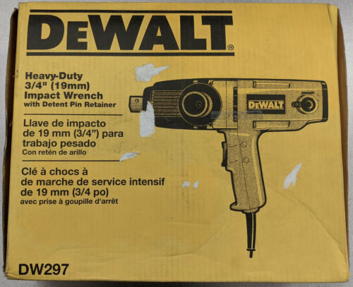 """Dewalt 3/4"""" (19mm) Impact Wrench with Detent Pin Retainer DW297"""