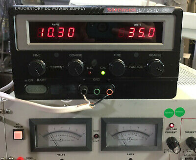 Sorensen Lh 35-10 Variable Dc Power Supply 0-35v 0-10a 350w - Load Tested